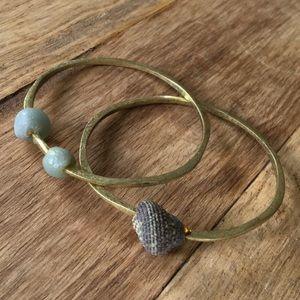 Anthropologie Metal Bracelet Set